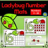 SPRING Math Center: Playdough – Number Mats 11-20 - LADYBUG MATH