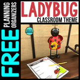LADYBUG Theme Decor Planner by Clutter Free Classroom