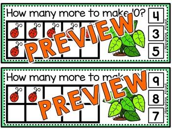 SPRING MATH: LADYBUGS MAKING TEN TASK CARDS