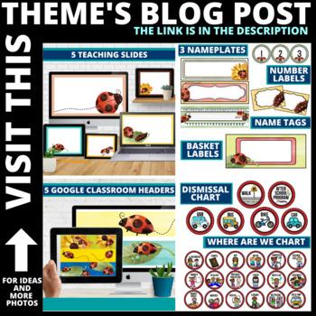LADYBUGS THEME Classroom Decor EDITABLE