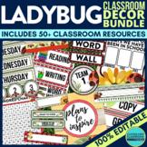 Ladybug Classroom Theme Decor Google Classroom