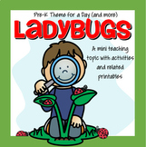 LADYBUGS Math, Science and Literacy Centers and Activities for Preschool & Pre-K