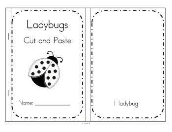 LADYBUGS Numbers - Cut and Paste Booklet - FREE