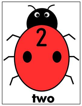 LADYBUGS WITH NUMBERS 0-20