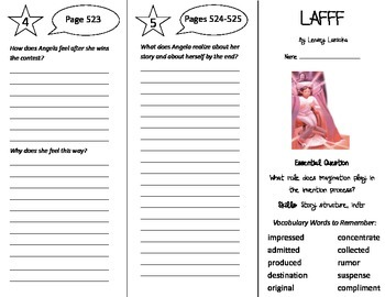 LAFFF Trifold - Journeys 5th Grade Unit 4 Week 2 (2014, 2017 Common Core)