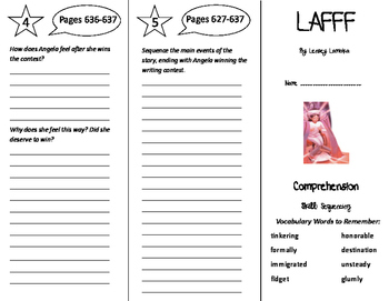 LAFFF Trifold - Treasures 6th Grade Unit 6 Week 2