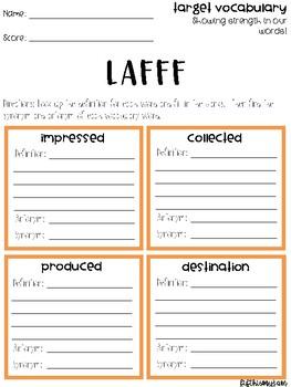 LAFFF Vocabulary Grids