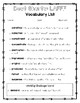 LAFFF - Vocabulary Packet
