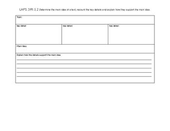 LAFS.3.RI.1.2 Graphic Organizer