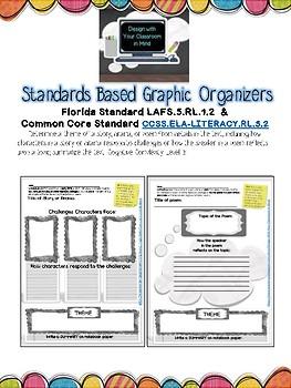 LAFS.5.RL.1.2 and Common Core RL.5.2 Graphic Organizer