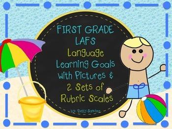 LAFS FLA STANDARDS GR 1 LANGUAGE Learning Goals, 2 SETS OF RUBRICS, DOK Levels