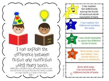 LAFS FLA Gr 1 RI & RL Learning Goals with 2 SETS of RUBRICS & DOK Levels