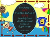 LAFS FLA Gr 1 RI & RL Learning Goals with 2 SETS of RUBRIC
