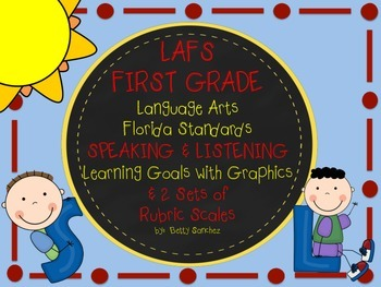 LAFS FLORIDA Gr 1 SPEAKING & LISTENING Goals, 2 SETS of RUBRICS, DOK Levels