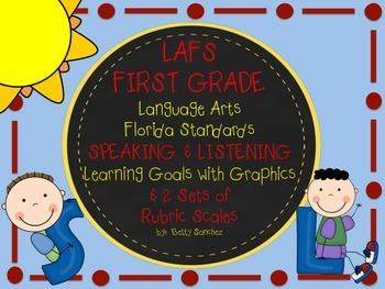 LAFS FLORIDA Gr 1 SPEAKING & LISTENING Goals, 2 SETS of RU