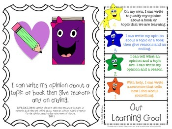 LAFS FLA Gr 1 WRITING Learning Goals with 2 SETS of RUBRICS & DOK Levels