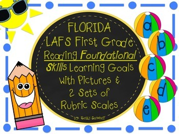 LAFS FLORIDA STANDARDS Gr 1 RF Learning Goals 2 SETS of RUBRICS & DOK Levels