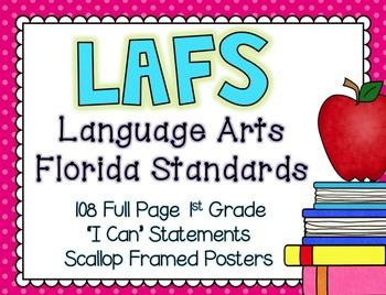 "LAFS ""I Can"" statements {NEW Language Arts Florida Standards}"