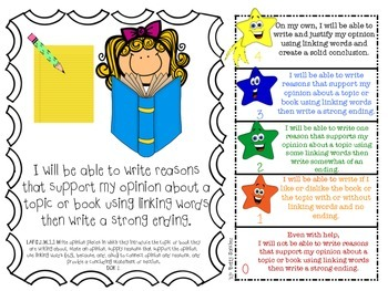 LAFS I WILL BE ABLE TO format Gr 2 WRITING Learning Goals and Rubrics
