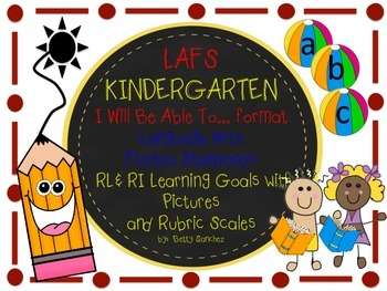 LAFS I WILL BE ABLE TO format Kindergarten RL/RI Learning Goals and Rubrics