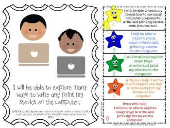 LAFS I WILL BE ABLE TO format Kindergarten WRITING Learning Goals and Rubrics