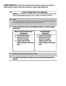 LAFS Informational Text Standards Grade 3
