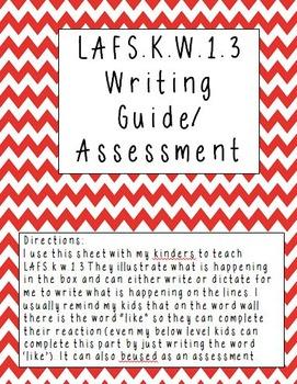 LAFS.K.W.1.3 assessment/teaching guide