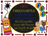 LAFS FLA KINDERGARTEN RI & RL Learning Goals with 2 SETS of RUBRICS & DOK Levels