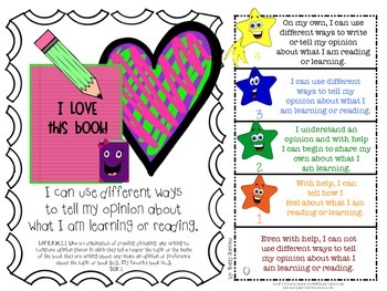 LAFS FLA KINDERGARTEN WRITING Learning Goals with 2 SETS of RUBRICS & DOK Levels