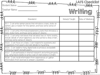 LAFS - Language Arts Florida Standards {1st Grade - Rainbow Stripe}
