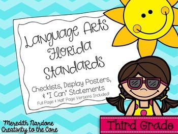 LAFS - Language Arts Florida Standards {3rd Grade - Turquoise Chevron}