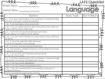 LAFS - Language Arts Florida Standards {4th Grade - Turquoise Chevron}