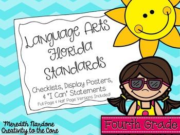 LAFS - Language Arts Florida Standards {4th Grade - Turquo