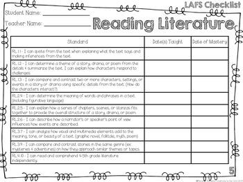 LAFS - Language Arts Florida Standards {5th Grade - Turquoise Chevron}