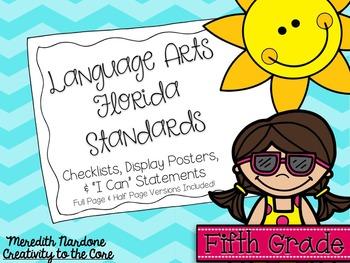 LAFS - Language Arts Florida Standards {5th Grade - Turquo