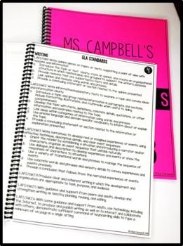 LAFS Language Arts Florida Standards Checklist 5th Grade