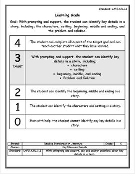 LAFS Learning Scale Bundle (K.RL.1.1)