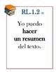 LAFS Literature Standards for 5th Grade Spanish