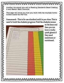 LAFS & MAFS 1st Grade Data Tracker