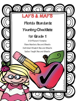 LAFS & MAFS Florida Standards Differentiated Checklists for Gr 1