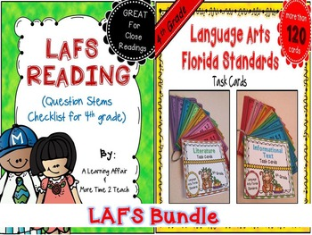 LAFS Question Stems Checklist & Task Cards {4th Grade Bundle}