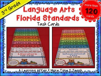 LAFS Question Stems Task Cards {3rd Grade}
