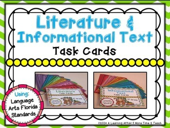 LAFS Question Stems Task Cards {4th Grade}