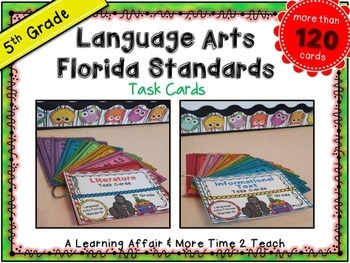 LAFS Question Stems Task Cards {5th Grade}