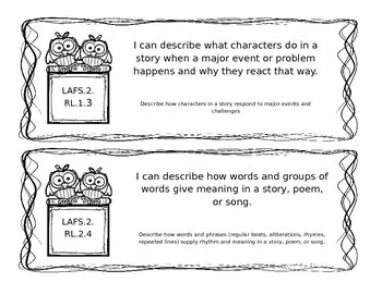 LAFS Reading Standards for Literature (Fiction)