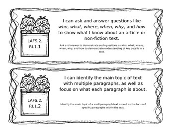 LAFS Reading Standards for Literature (Nonfiction)