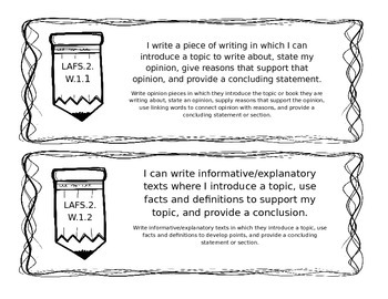 LAFS Writing Standards for 2nd Grade