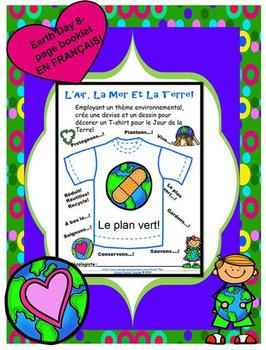 L'AIR, LA MER ET LA TERRE!  A French Earth Day Booklet of