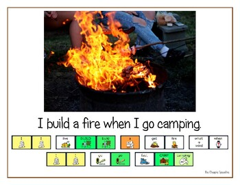 """LAMP AAC book- """"Camping"""""""