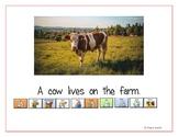 "LAMP AAC book- ""Farm Animals"""